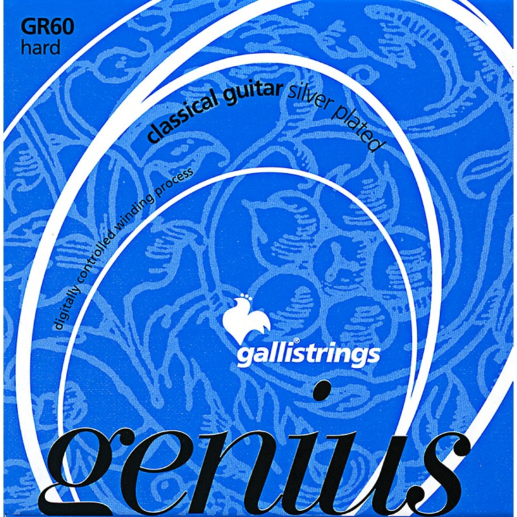 Galli StringsGR60 C Genius Coated Silverplated Hard Tension Classical Acoustic Guitar Strings