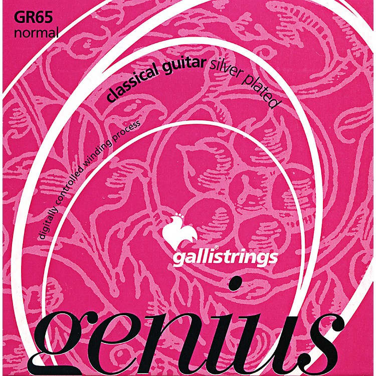 Galli Strings GR65 C GENIUS Coated Silverplated Normal Tension Classical Acoustic Guitar Strings