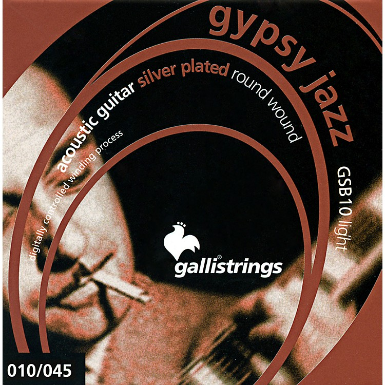 Galli Strings GSB10 GYPSY JAZZ Silverplated Round Wound Light Acoustic Guitar Strings