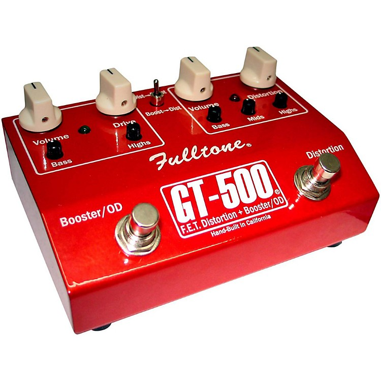 Fulltone GT-500 FET Distortion + Booster and Overdrive Guitar Effects Pedal Red