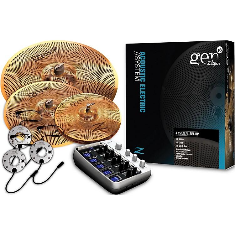 ZildjianGen16 Buffed Bronze 13/18/20 Acoustic-Electric Cymbal Pack