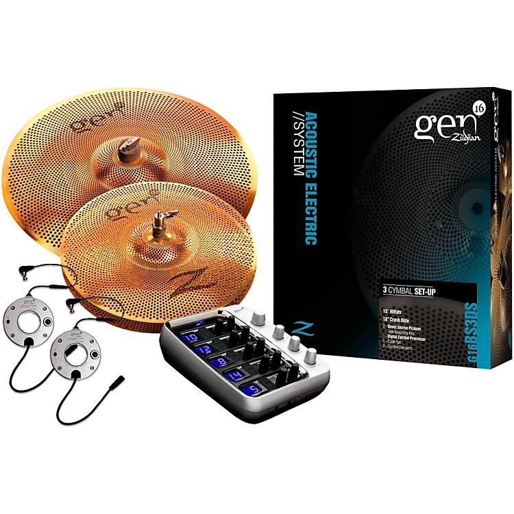 ZildjianGen16 Buffed Bronze 13/18 Acoustic-Electric Cymbal Pack