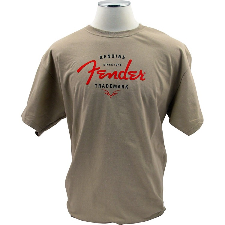 Fender Genuine Trademark T-Shirt Sand Small