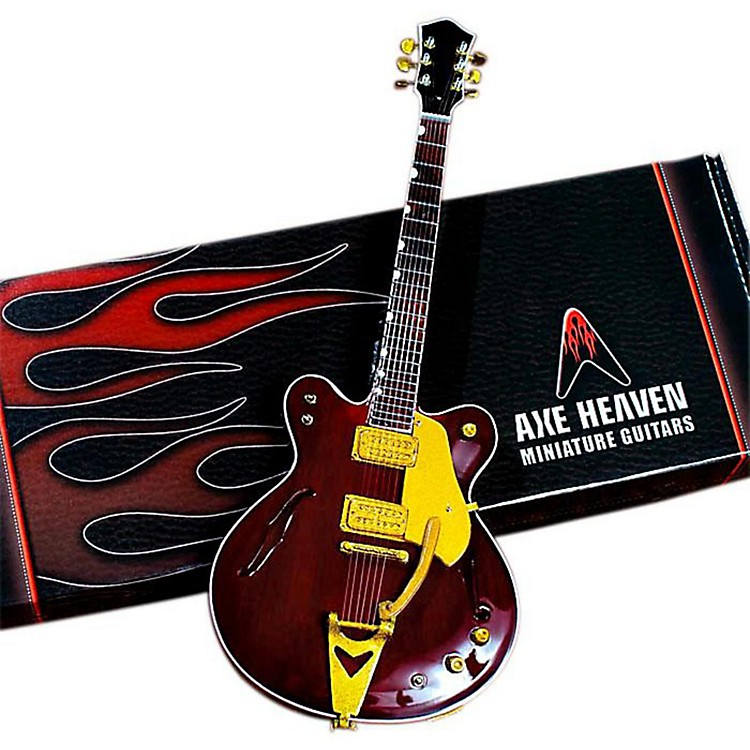 Axe HeavenGeorge Harrison Counrty Gentleman Rosewood Hollow Body Miniature Guitar Replica Collectible