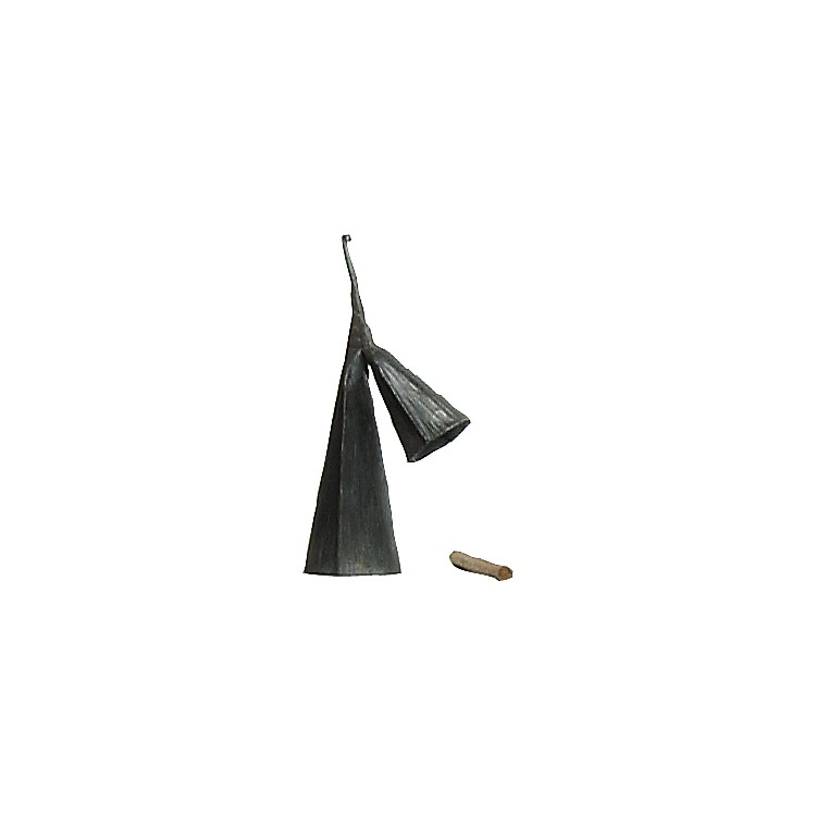 Overseas Connection Ghana Double Gonkogwe Bell with Stick Black 14 in.