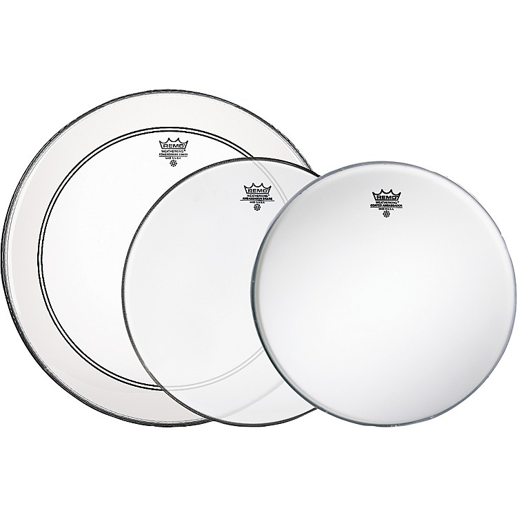 RemoGig Drumhead Pack with Free Ambassador Snare Side Head