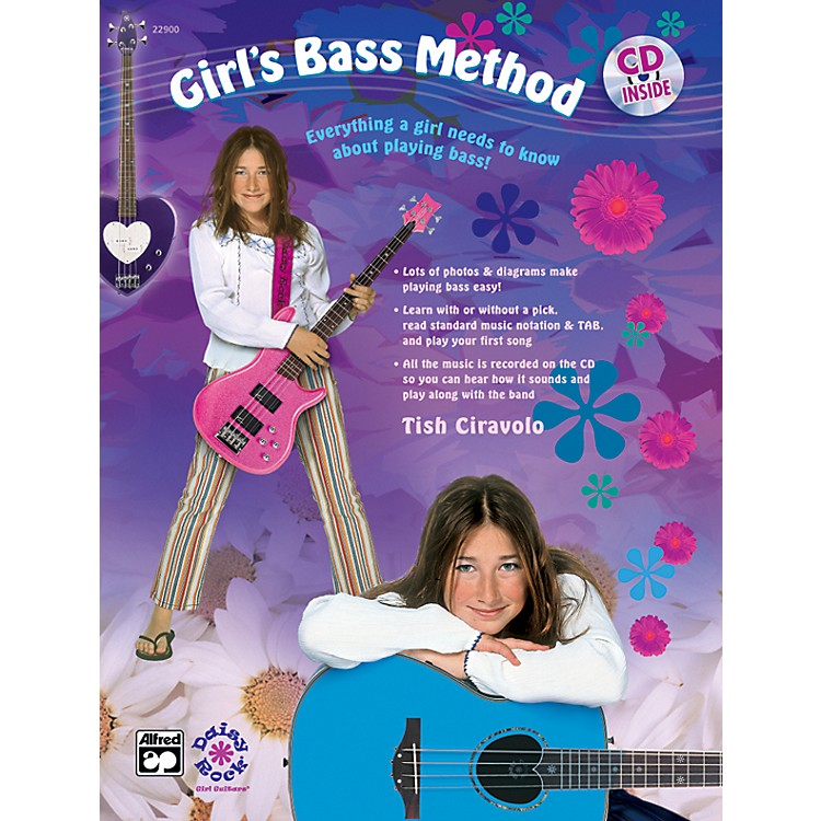 AlfredGirl's Bass Method Book & CD