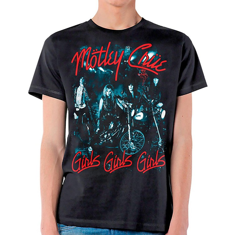 Motley Crue Girls Girls Girls T-Shirt Medium Black