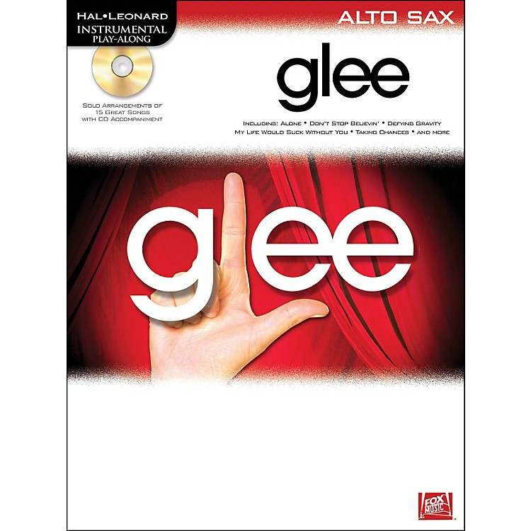 Hal Leonard Glee For Alto Sax - Instrumental Play-Along Book/CD