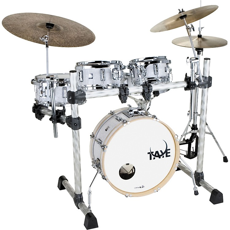 Taye Drums GoKit Fusion 5-Piece Drum Set with Rack White Pearl