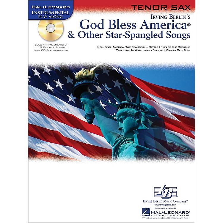 Hal LeonardGod Bless America & Other Star-Spangled Songs for Tenor Sax Instrumental Play-Along Book/CD