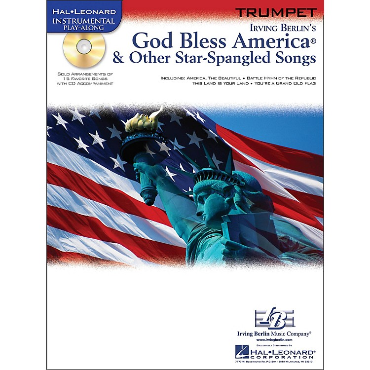 Hal LeonardGod Bless America & Other Star-Spangled Songs for Trumpet Instrumental Play-Along Book/CD