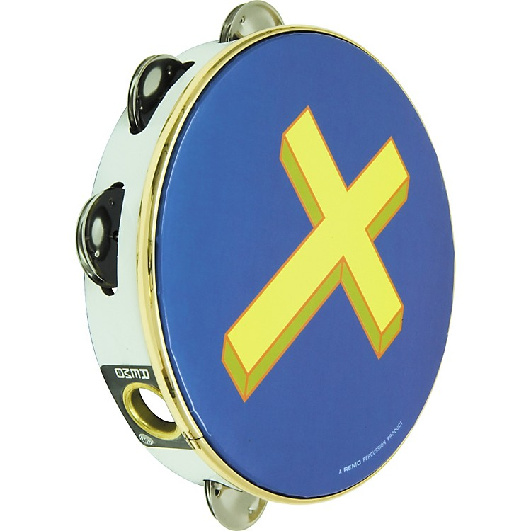 Rhythm Band Gold Cross Tambourine 8 In 8 Jingle