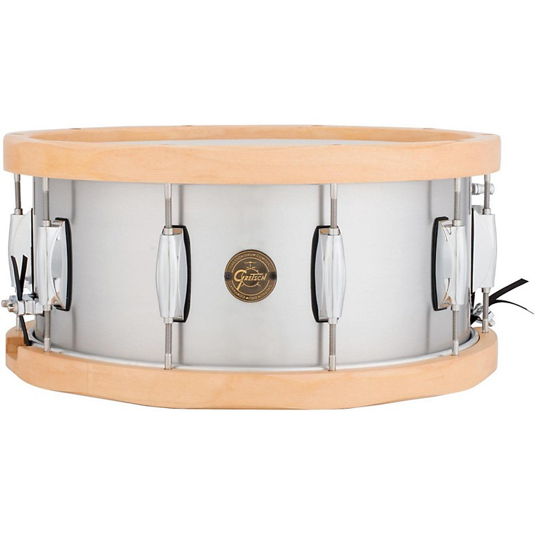 Gretsch Drums Gold Series Aluminum/Maple Snare Drum 14 x 6.5 Wood Hoop