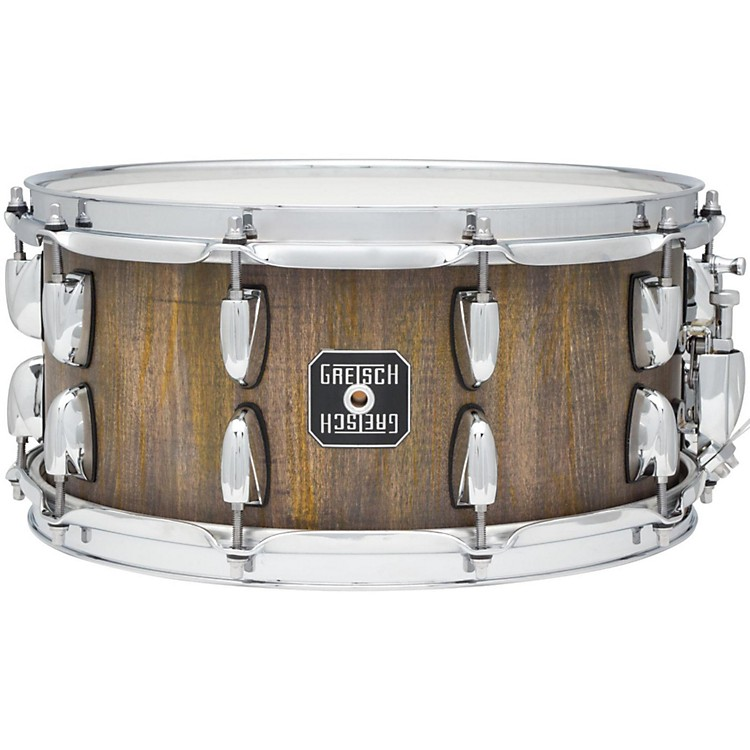 Gretsch Drums Gold Series Barnboard Snare Drum Weathered Brown 6.5x14