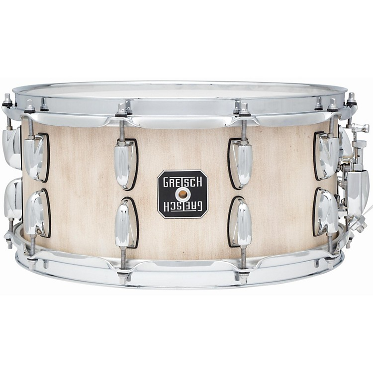 Gretsch Drums Gold Series Barnboard Snare Drum Weathered White 6.5x14