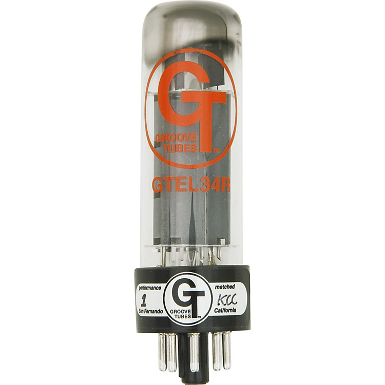 Groove Tubes Gold Series GT-EL34-R Matched Power Tubes Low (1-3 GT Rating) Duet