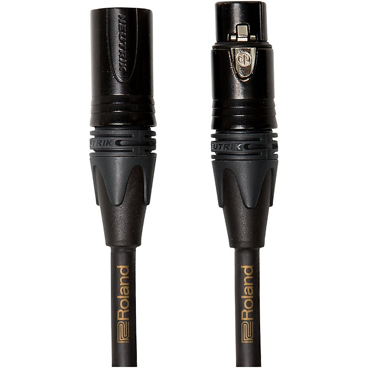Roland Gold Series Microphone Cable 25 ft. Black