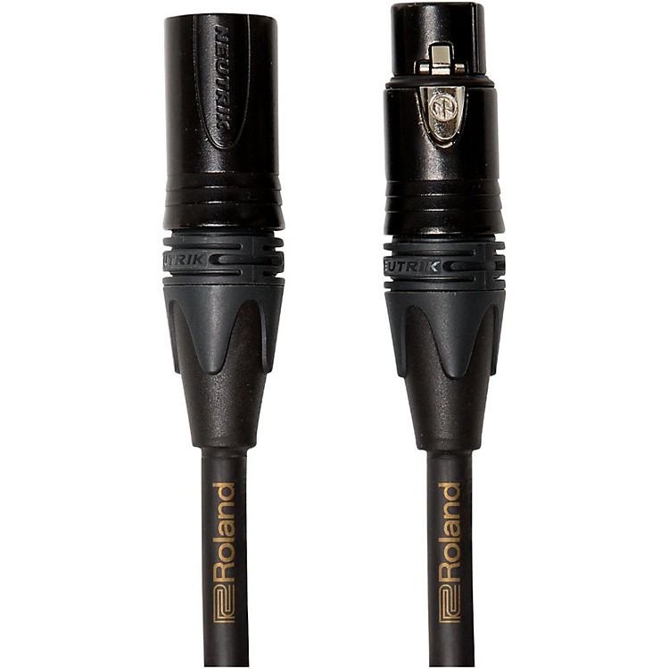 Roland Gold Series Microphone Cable 3 ft. Black
