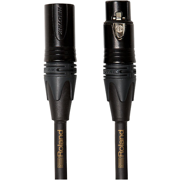 Roland Gold Series XLR Microphone Cable 15 ft. Black