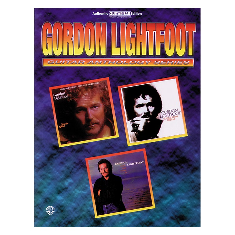 Alfred Gordon Lightfoot Guitar Anthology Series Guitar Tab Book