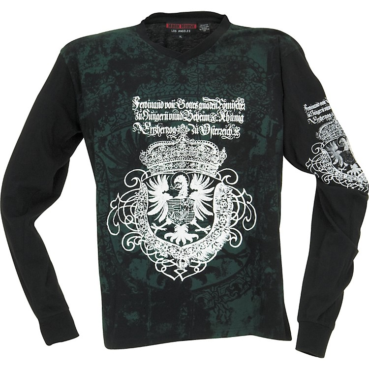 Rock House Los Angeles Goth Eagle Long-Sleeve T-Shirt Black X Large