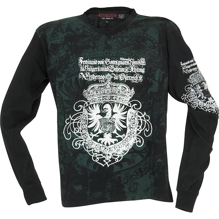 Rock House Los AngelesGoth Eagle Long-Sleeve T-ShirtBlackX Large