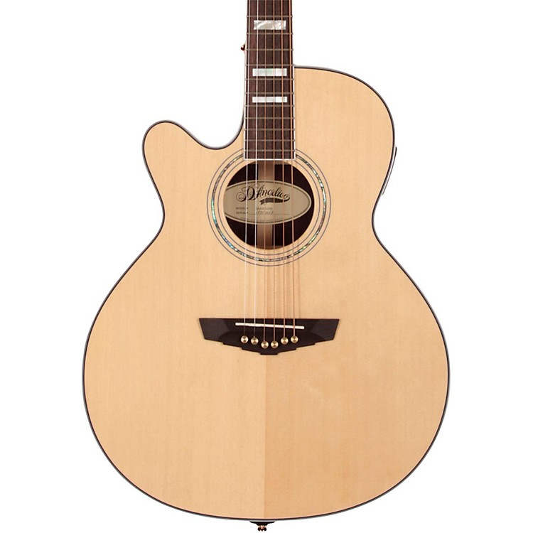 D'Angelico Gramercy Grand Auditorium Left-Handed Cutaway Acoustic-Electric Guitar Natural