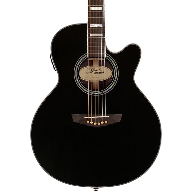 D'Angelico Gramercy Sitka Grand Auditorium Cutaway Acoustic-Electric Guitar Black