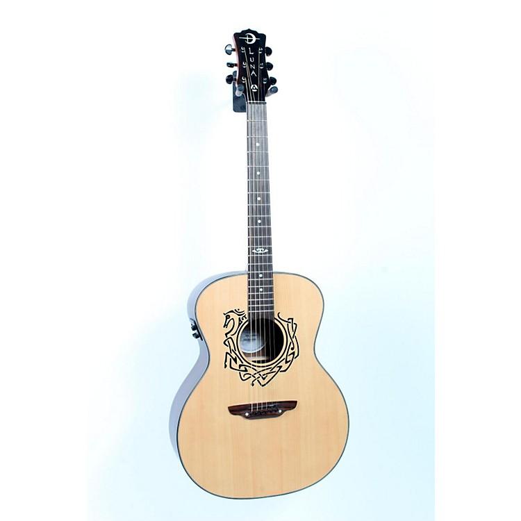 Luna GuitarsGrand Concert Celtic-Themed Acoustic-Electric GuitarNatural888365384139