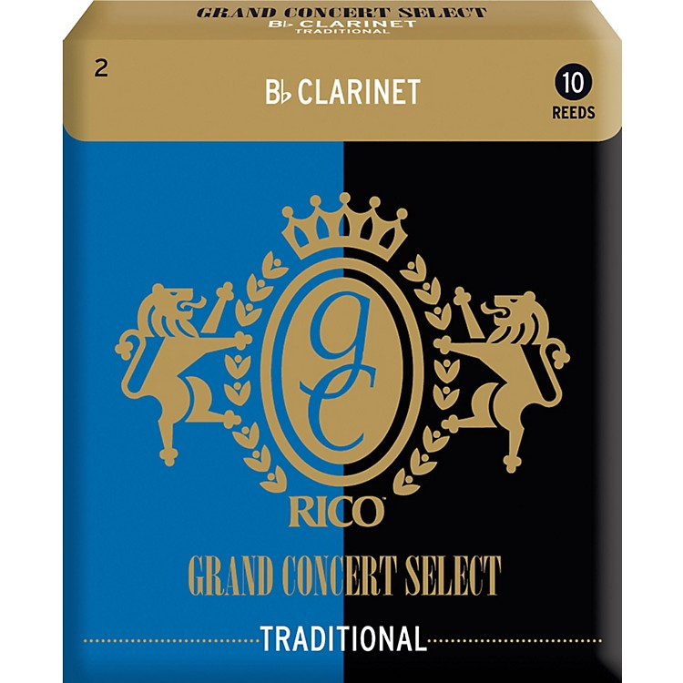 Rico Grand Concert Select Traditional Bb Clarinet Reeds Strength 2 Box of 10
