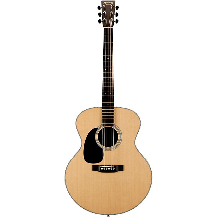 Martin Grand J-28LSE Baritone Left-Handed Acoustic-Electric Guitar Natural