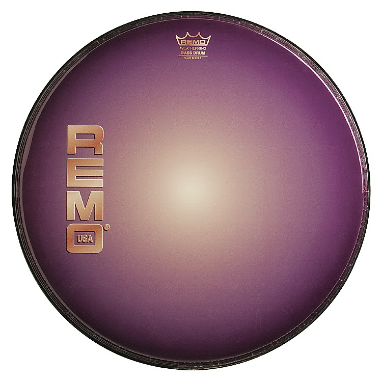 Remo Graphic Heads Purple Sunburst Resonant Bass Drum Head  22 Inches