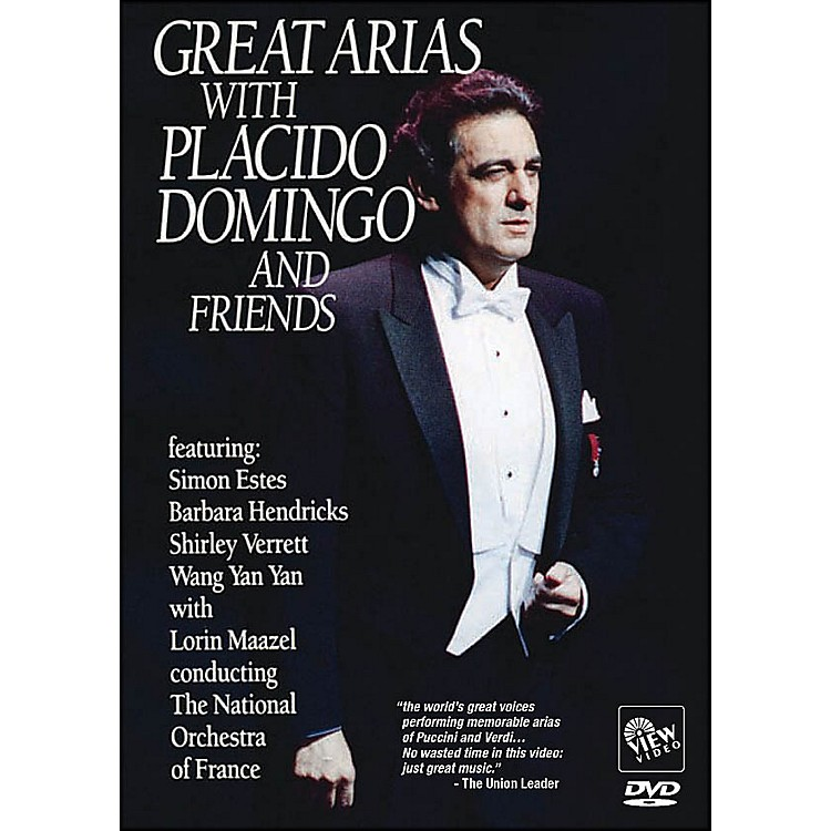 Hal Leonard Great Arias with Placido Domingo And Friends DVD