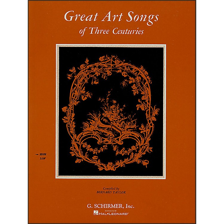 G. SchirmerGreat Art Songs Of Three Centuries for High Vocal / Piano