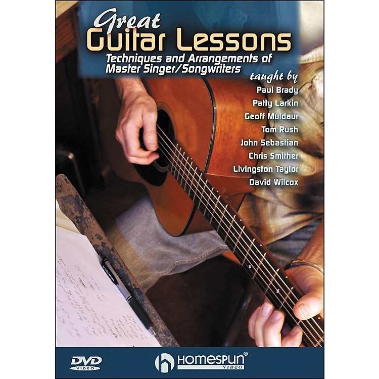 HomespunGreat Guitar Lessons: Techniques And Arrangements Of Master Singer / Songwriters DVD