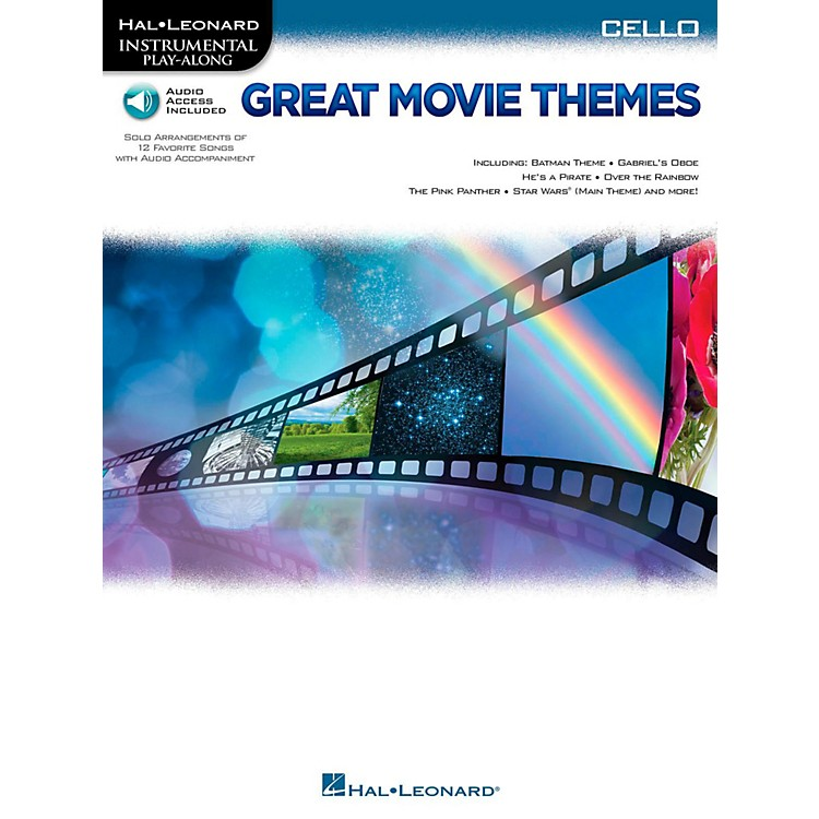 Hal Leonard Great Movie Themes For Cello - Instrumental Play-Along (Book/Online Audio)