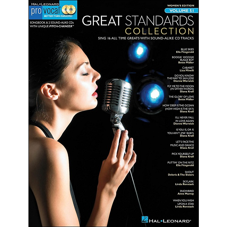 Hal Leonard Great Standards Collection - Pro Vocal Songbook & 2 CD's for Female Singers Volume 51
