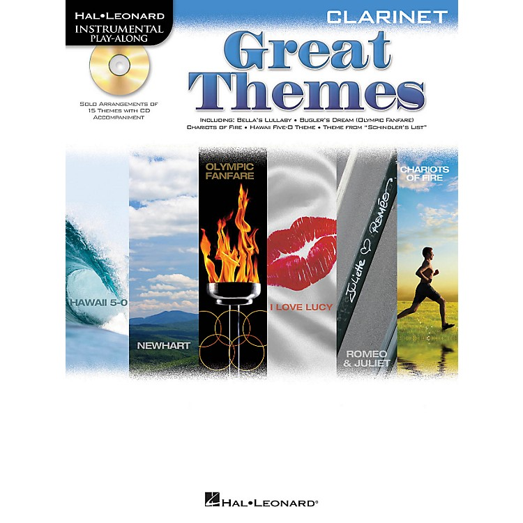 Hal Leonard Great Themes - Instrumental Play-Along Book/CD Clarinet