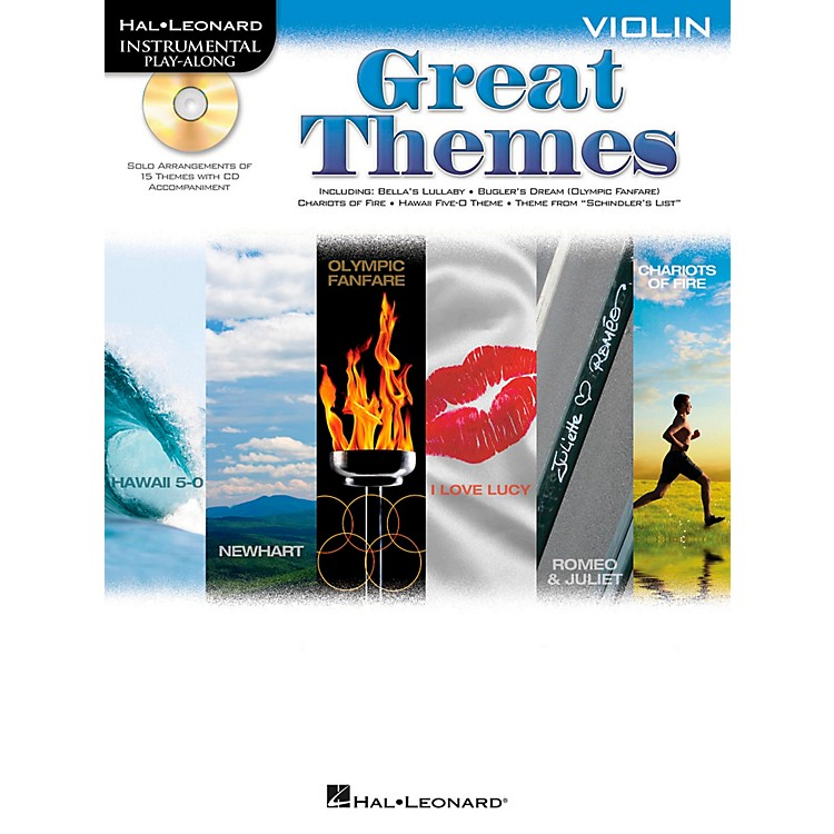Hal Leonard Great Themes - Instrumental Play-Along Book/CD Violin