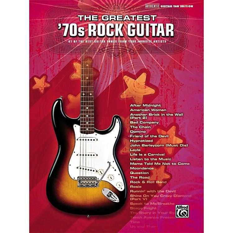 AlfredGreatest '70s Rock Guitar Tab Songbook