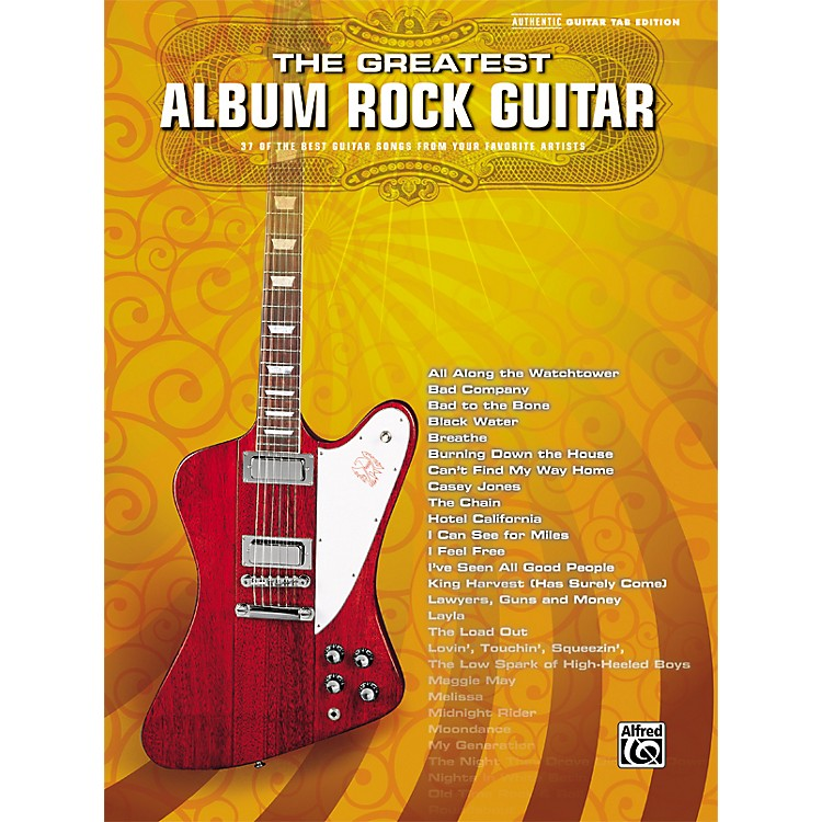 Alfred Greatest Album Rock Guitar Tab Book