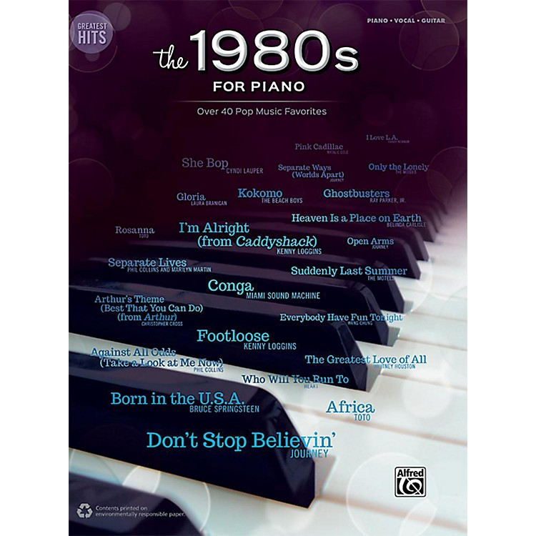 AlfredGreatest Hits: The 1980s for Piano - Piano/Vocal/Guitar Songbook