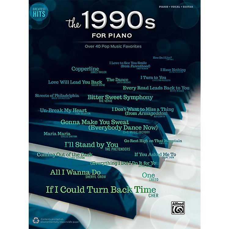 AlfredGreatest Hits: The 1990s for Piano - Piano/Vocal/Guitar Songbook
