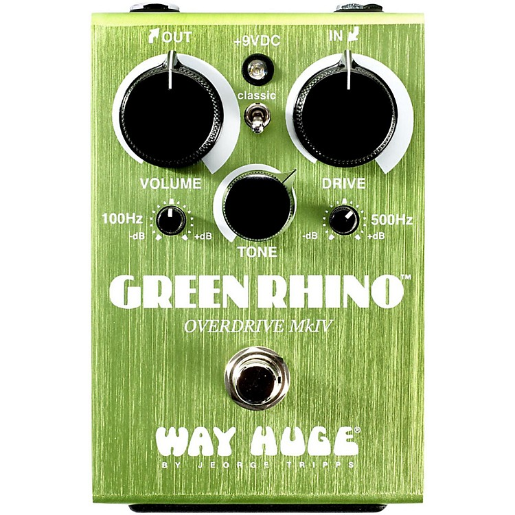 Way Huge ElectronicsGreen Rhino Mini MK4 Overdrive Guitar Effects Pedal