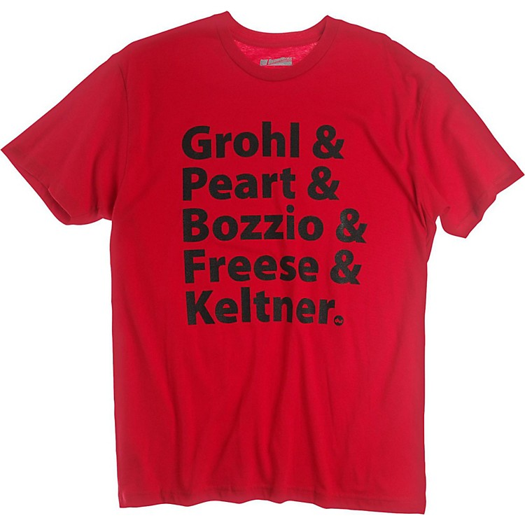 DW Grohl & Peart Artists T-Shirt Red Large