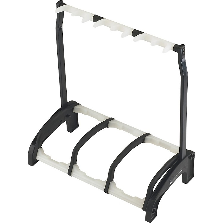 K&M Guardian 3 Guitar Stand Rack-style (3 Guitars) Translucent