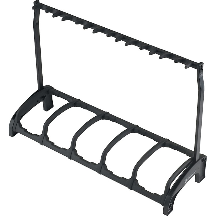 K&M Guardian Five Guitar Stand Rack-style (5 Guitars) Black