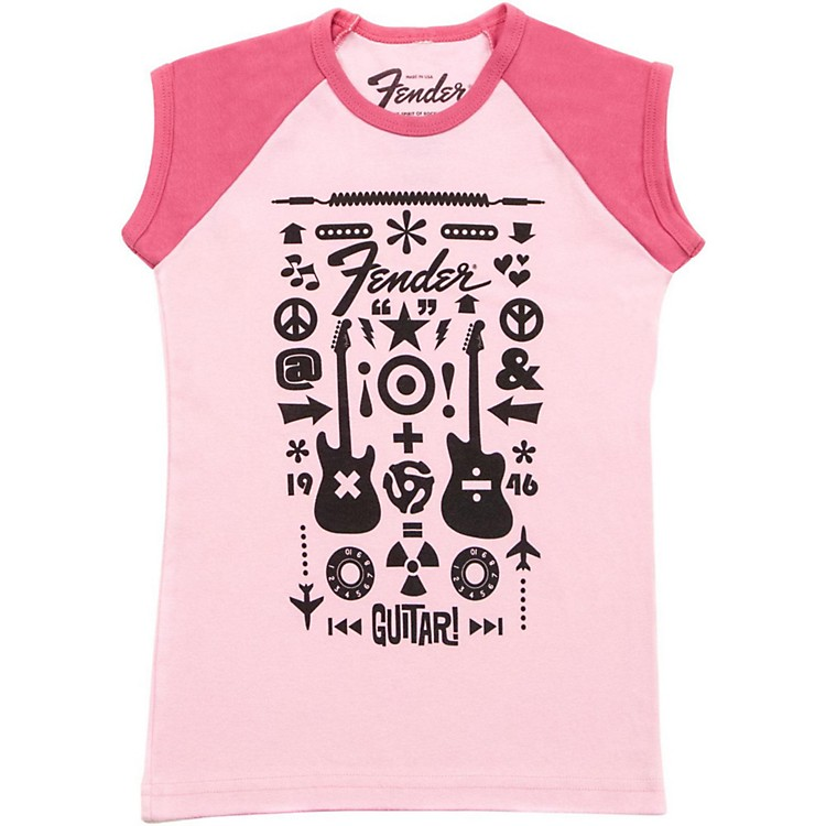 Fender Guitar Formula Youth T-Shirt Pink 9-10 YR/XL