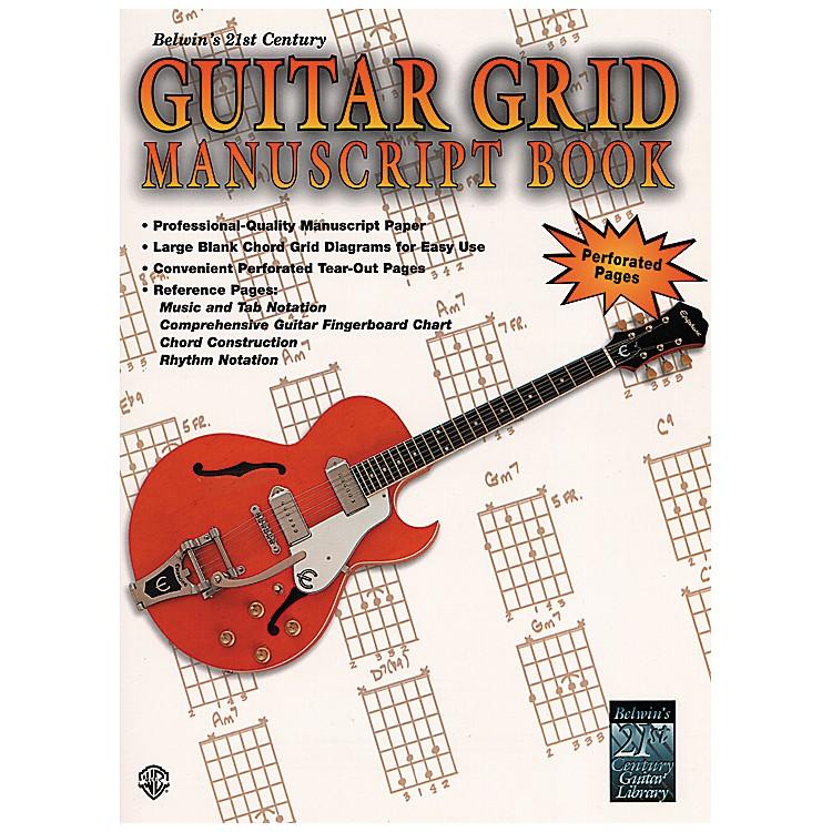 AlfredGuitar Grid Manuscript Book